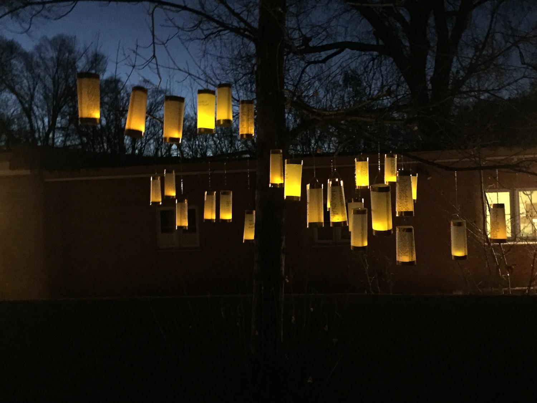 Lanterns for Peace at the Helene Wurlitzer Foundation