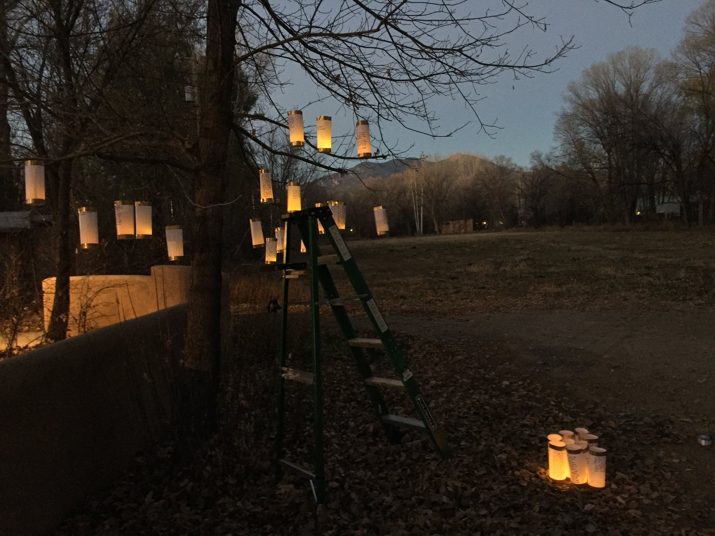 Lanterns for Peace Installation at the Helene Wurlitzer Foundation