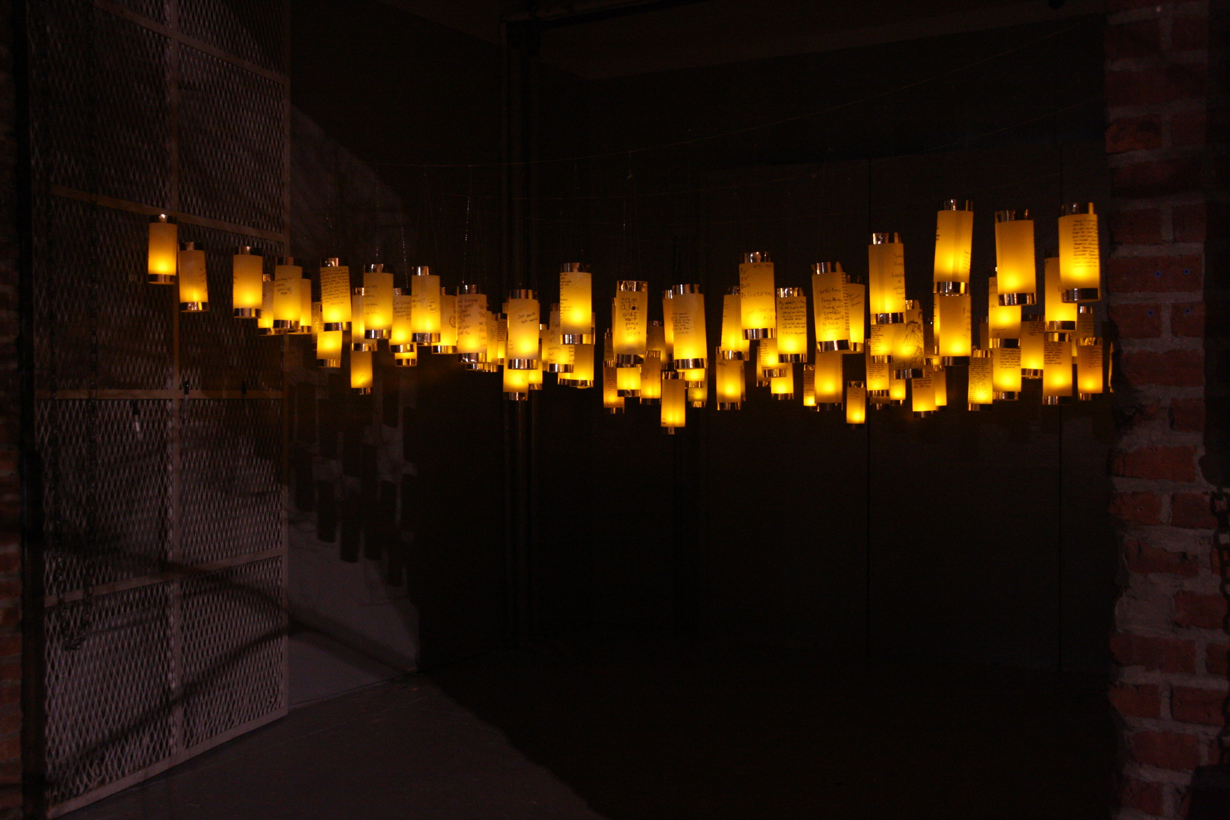 Lanterns for Peace at FiveMyles Gallery