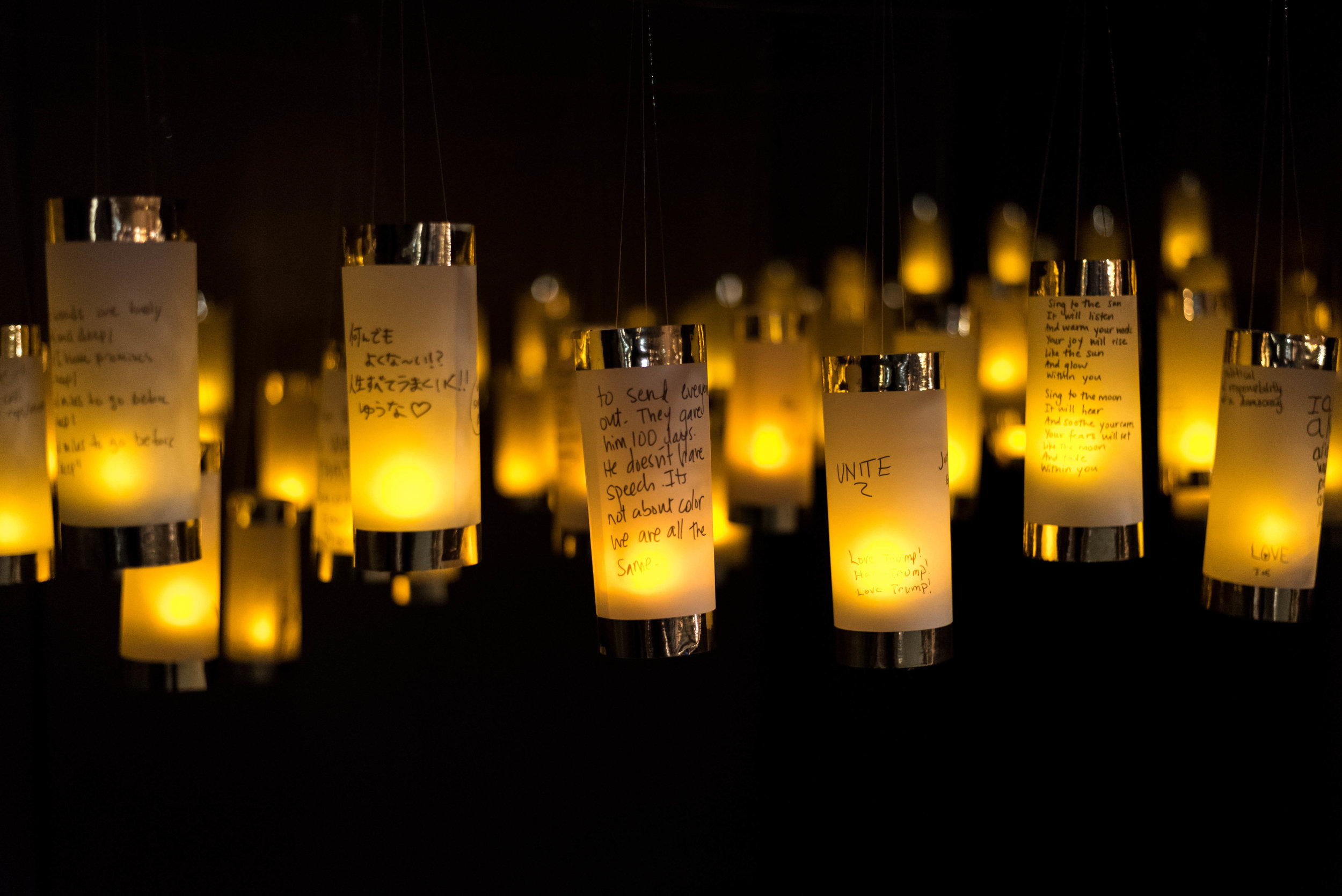 Lanterns for Peace at Five Myles Gallery