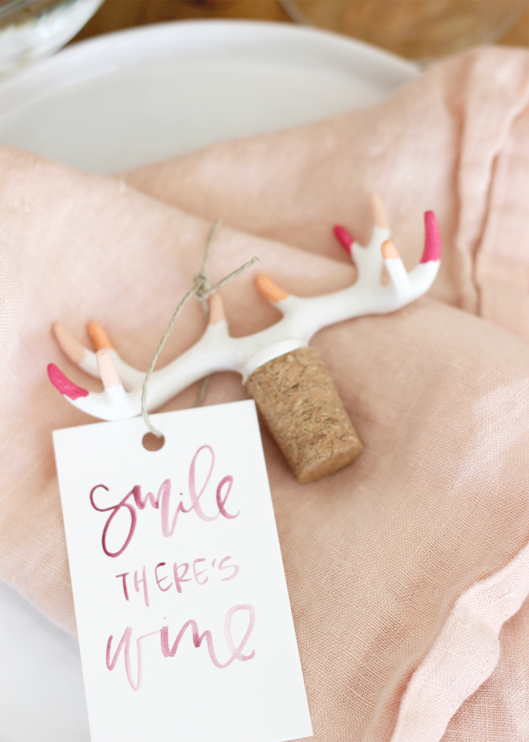 WINE CALLIGRAPHY TAG