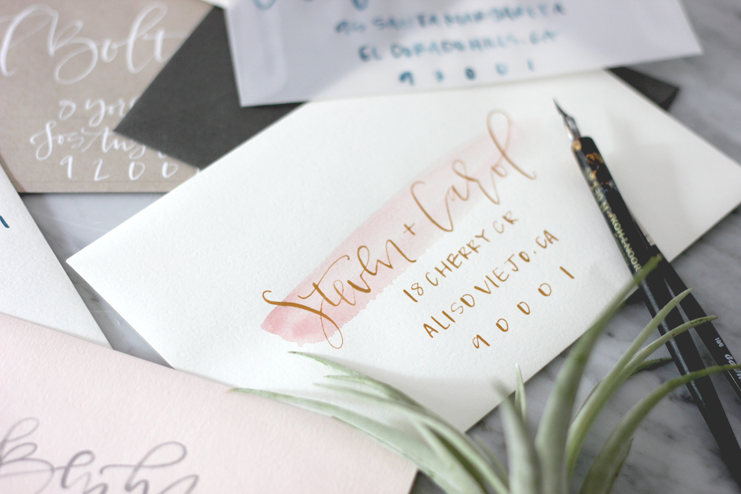 Tools for creating wedding envelopes | A Fabulous Fete