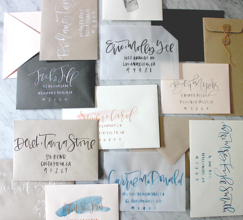 Wedding Envelope Calligraphy Inspiration | A Fabulous Fete