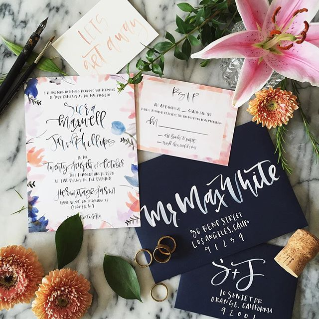 Colorful Floral Calligraphy Wedding Suite.jpg