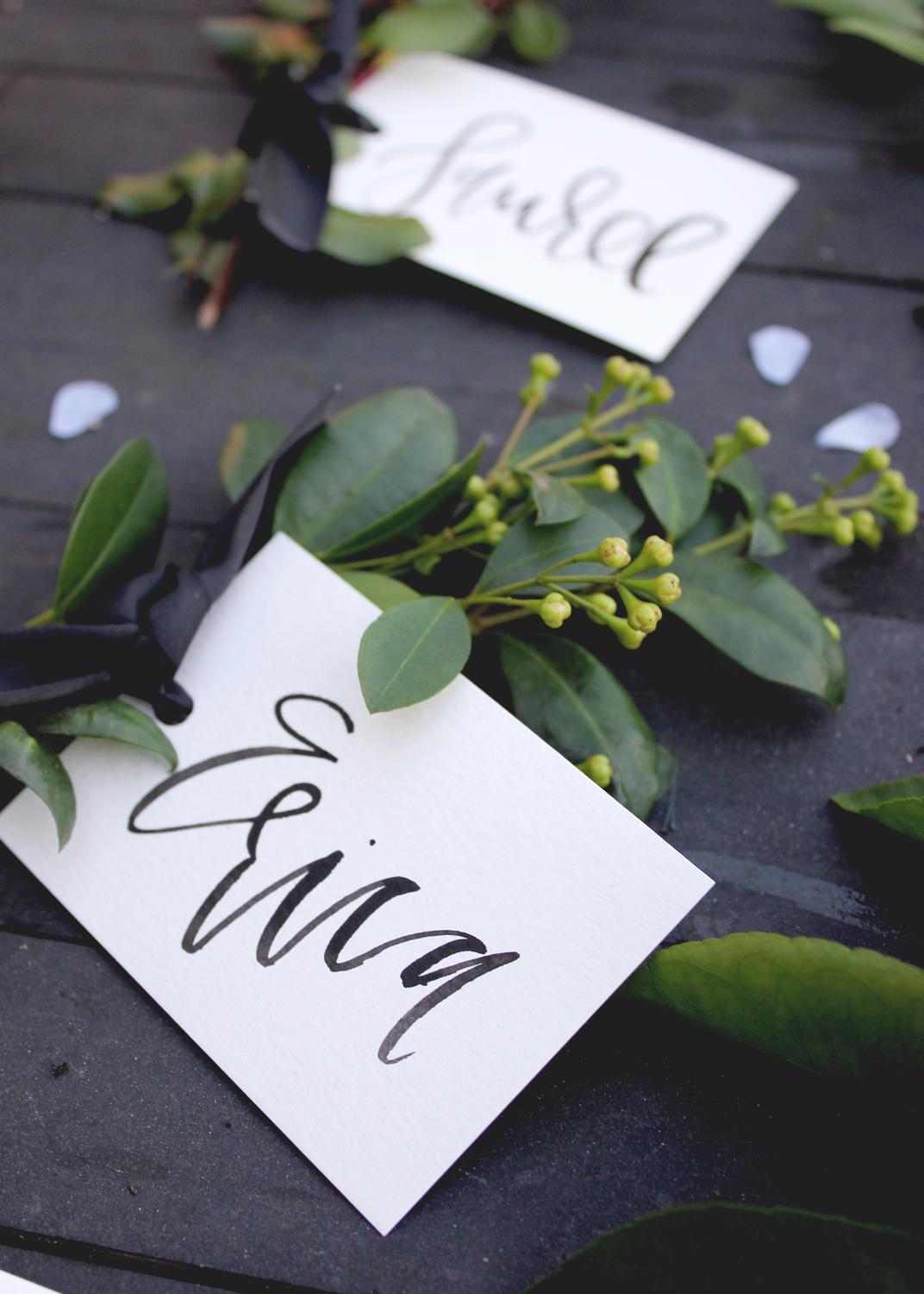 Black Watercolor Lettering | A Fabulous Fete