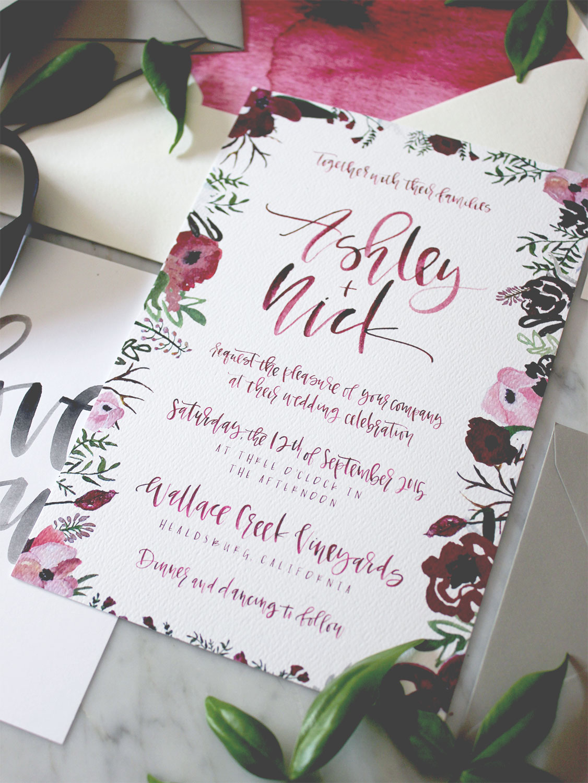 Watercolor Floral Suite | A Fabulous Fete