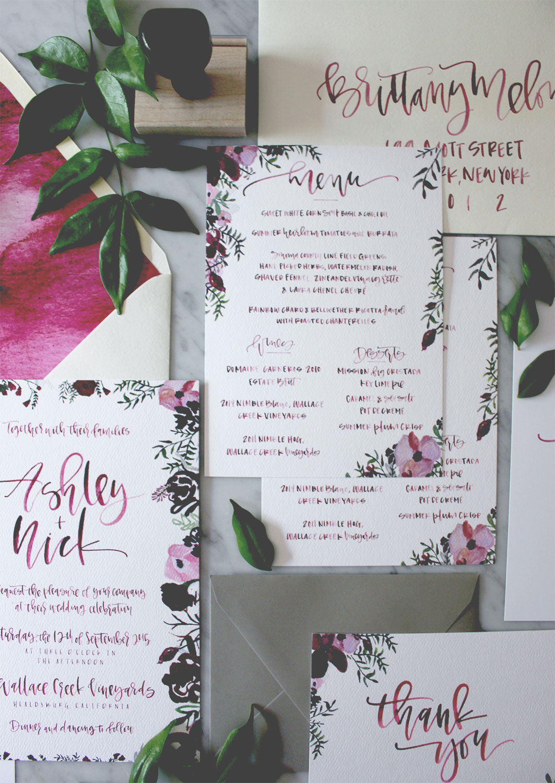 Custom Calligraphy Wedding Menu | A Fabulous Fete