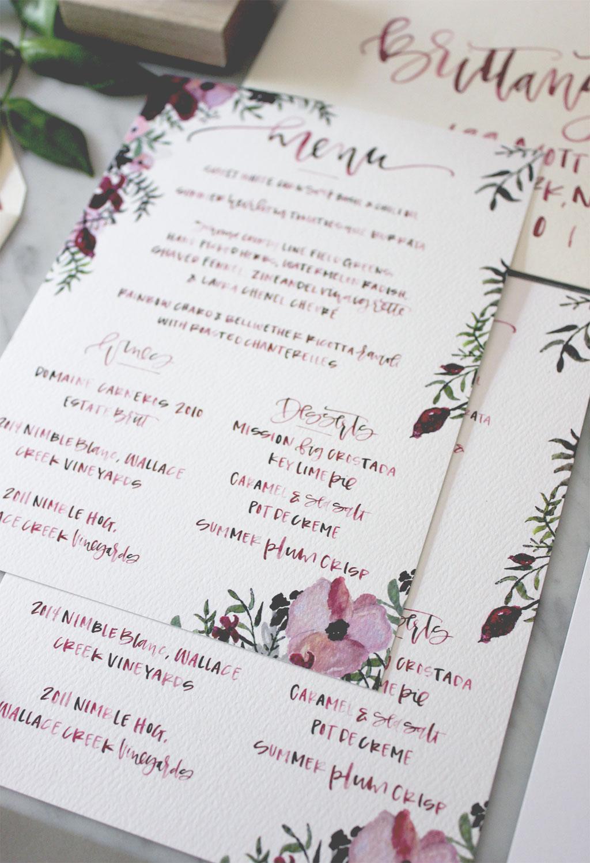 Wedding Dinner Menu | A Fabulous Fete