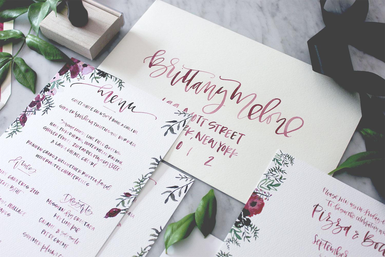 Watercolor Envelope Addressing | A Fabulous Fete