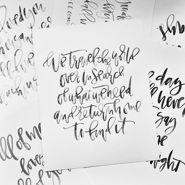 Black Calligraphy Custom Quotes | A Fabulous Fete