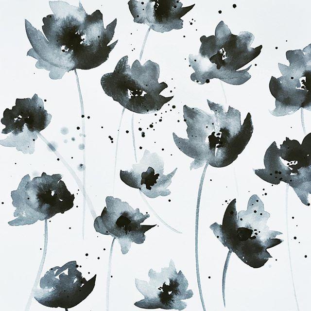 Black Watercolor Painting | A Fabulous Fete