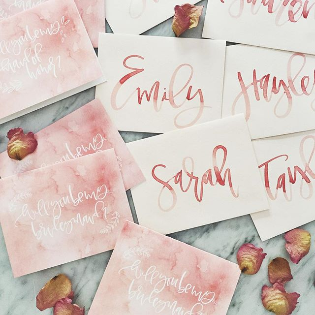Bridesmaids Cards | A Fabulous Fete