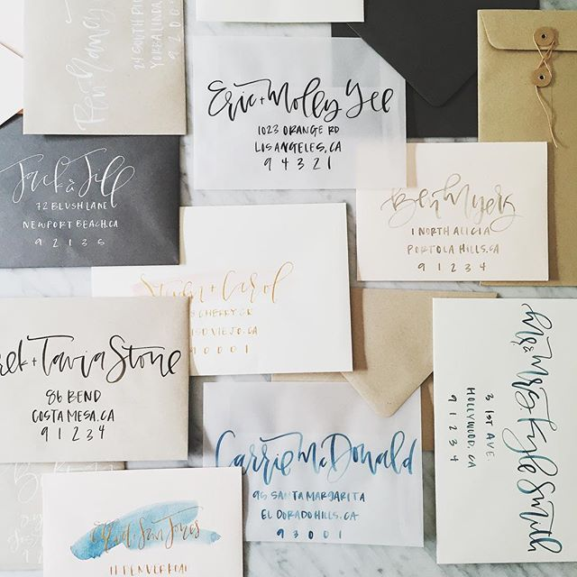 Wedding Envelope Addressing | A Fabulous Fete