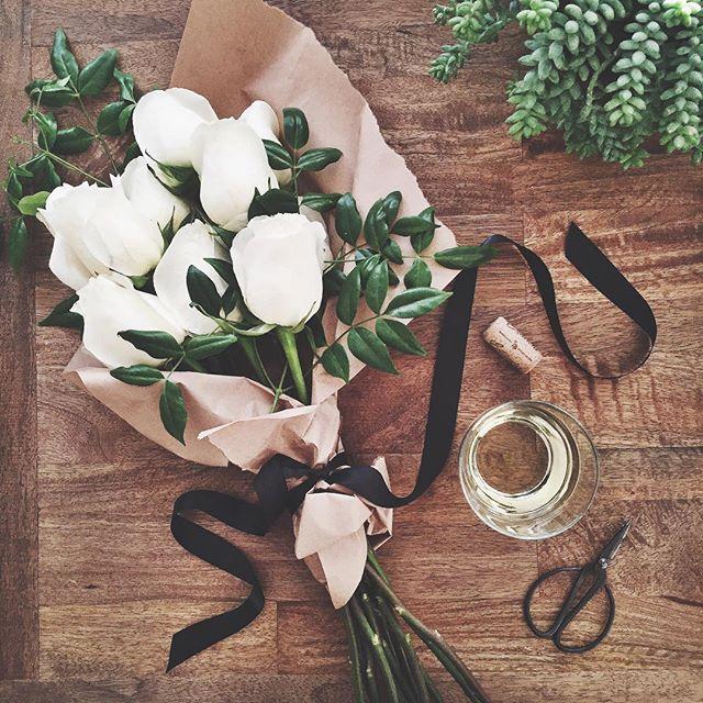 White rose bouquet | A Fabulous Fete