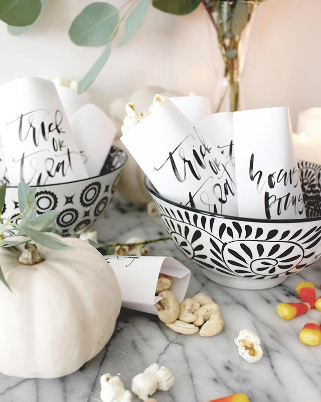 Halloween Printable Favor Bags   A Fabulous Fete