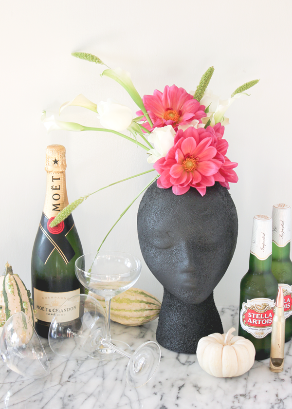 Halloween Head Vase DIY   A Fabulous Fete