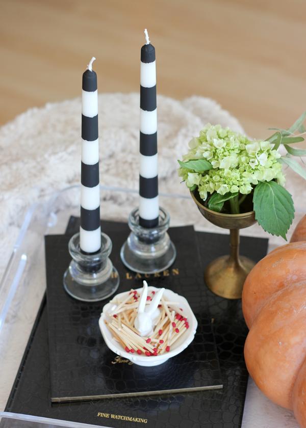 Striped Candlestick DIY   A Fabulous Fete