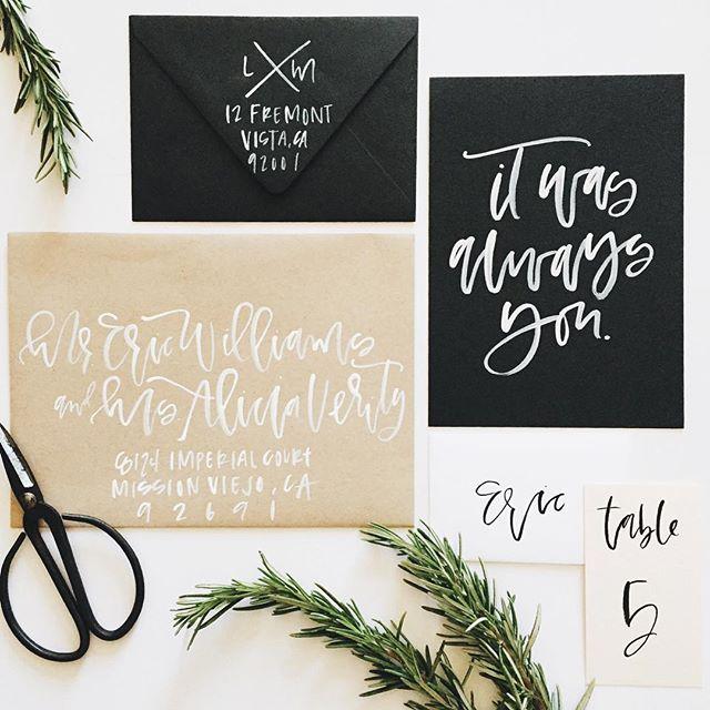 Custom Wedding Envelopes | A Fabulous Fete