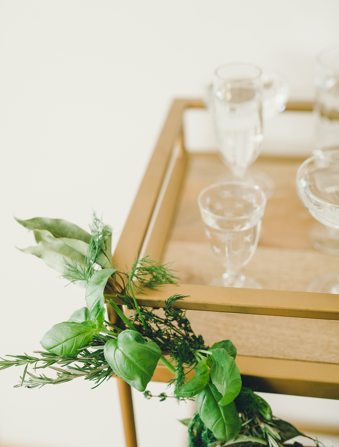 Herb Garland for Holiday Parties | A Fabulous Fete