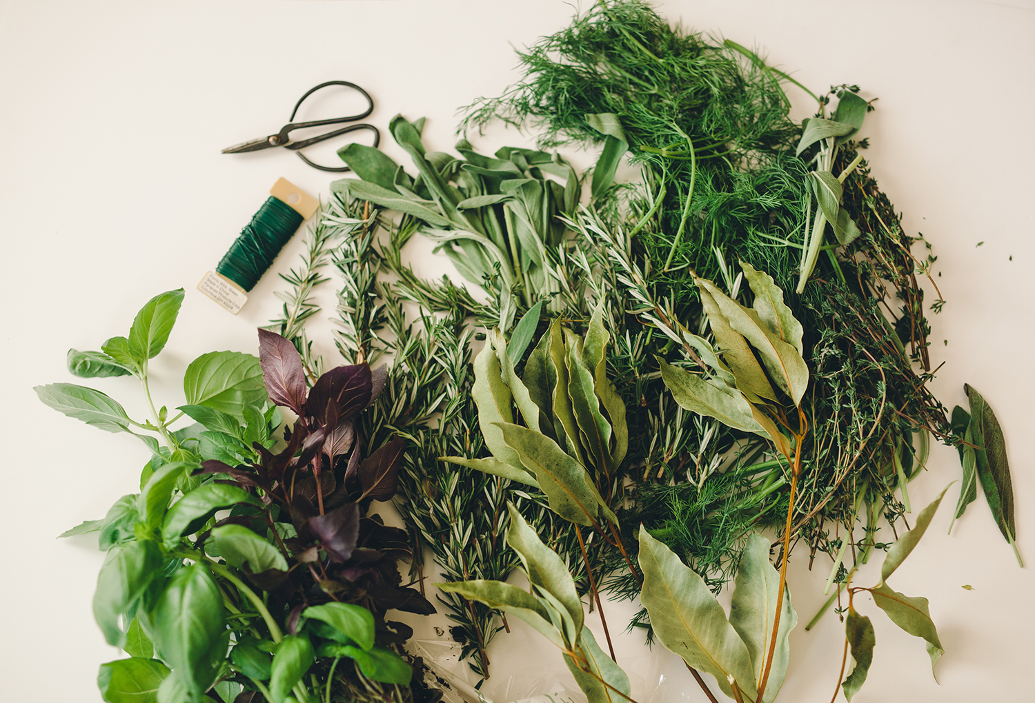 Steps to create a garland made of herbs | A Fabulous Fete