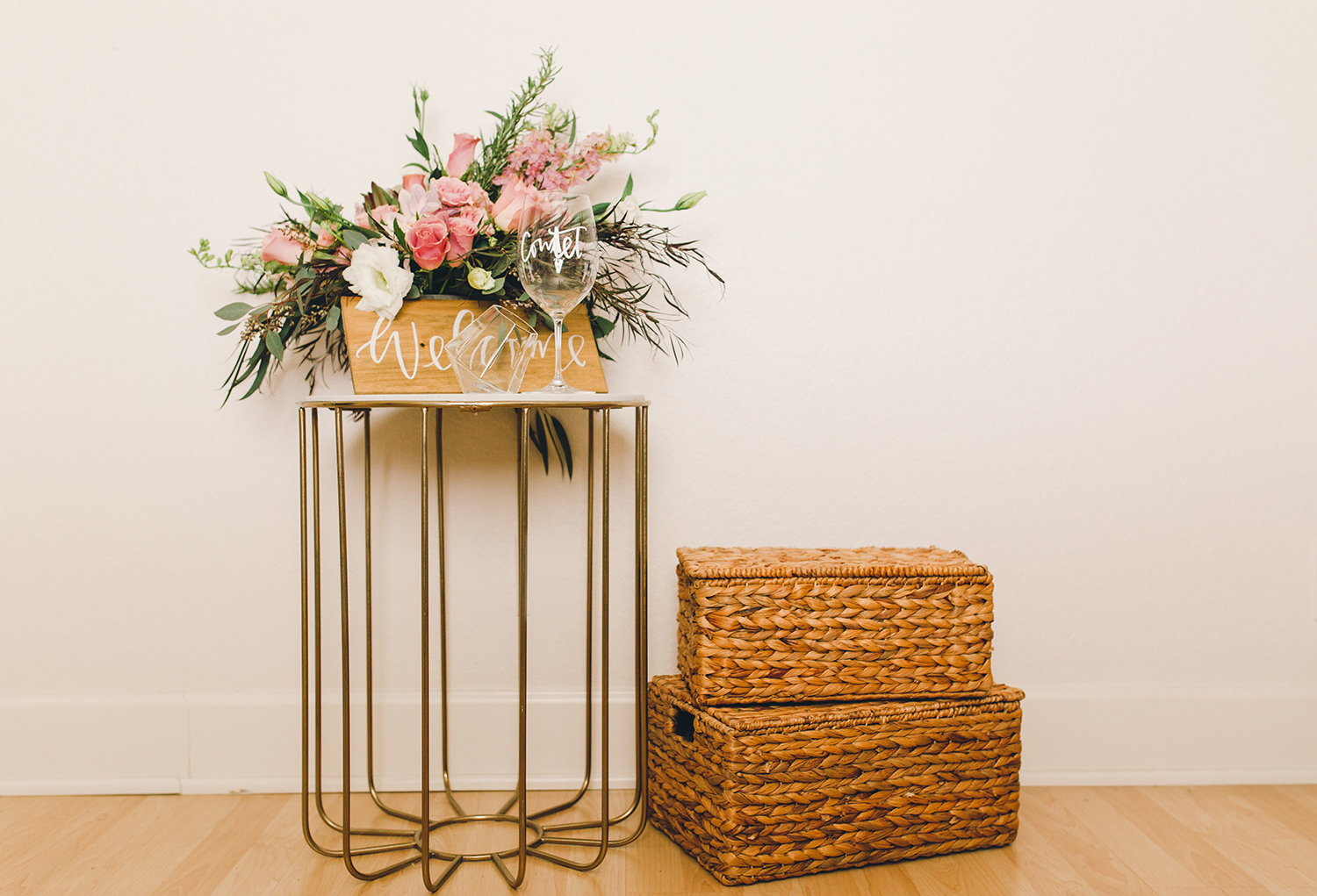 A great way to hide gifts at a white elephant parties, baskets when you arrive | A Fabulous Fete