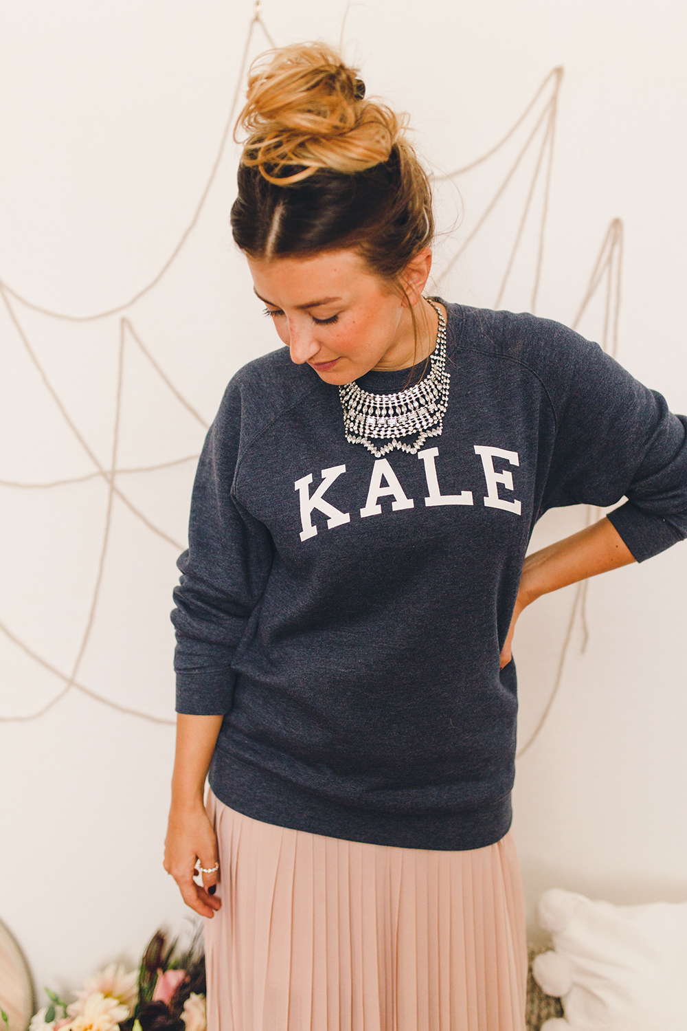 How to wear a sweatshirt for to your holiday parties | A Fabulous Fete