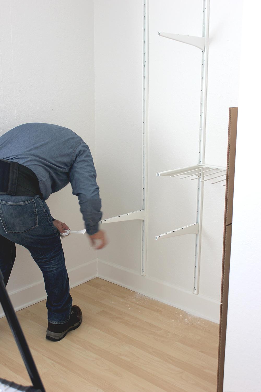 TaskRabbit Tasker installing ikea storage for closet before and after | A Fabulous Fete