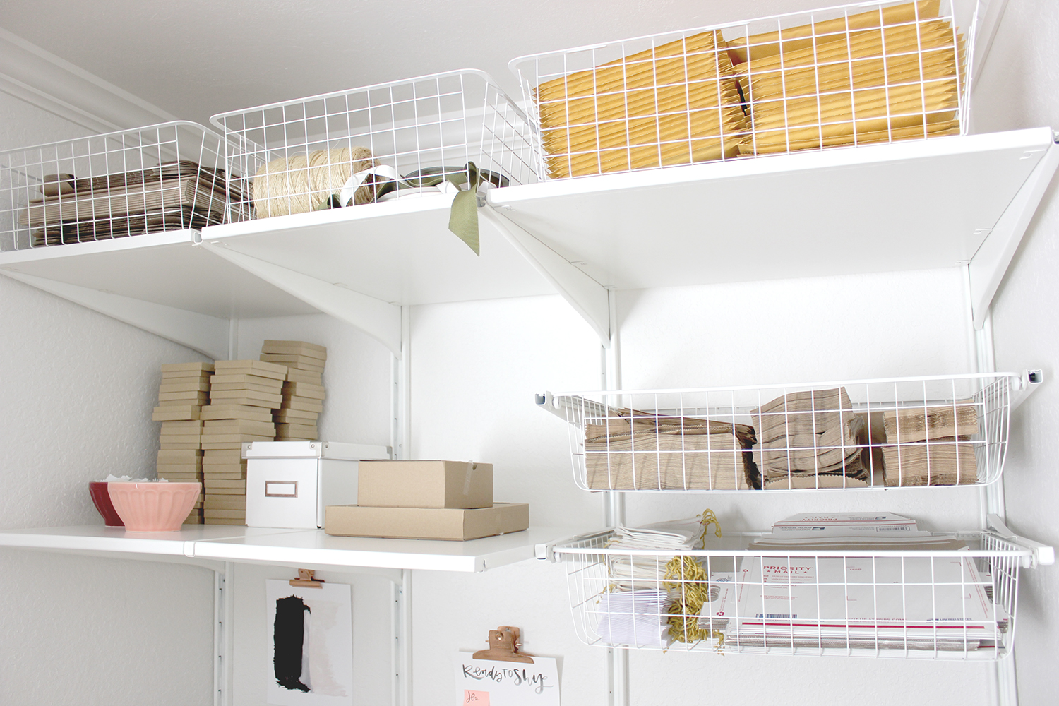 Vertical storage for items not used frequently | A Fabulous Fete