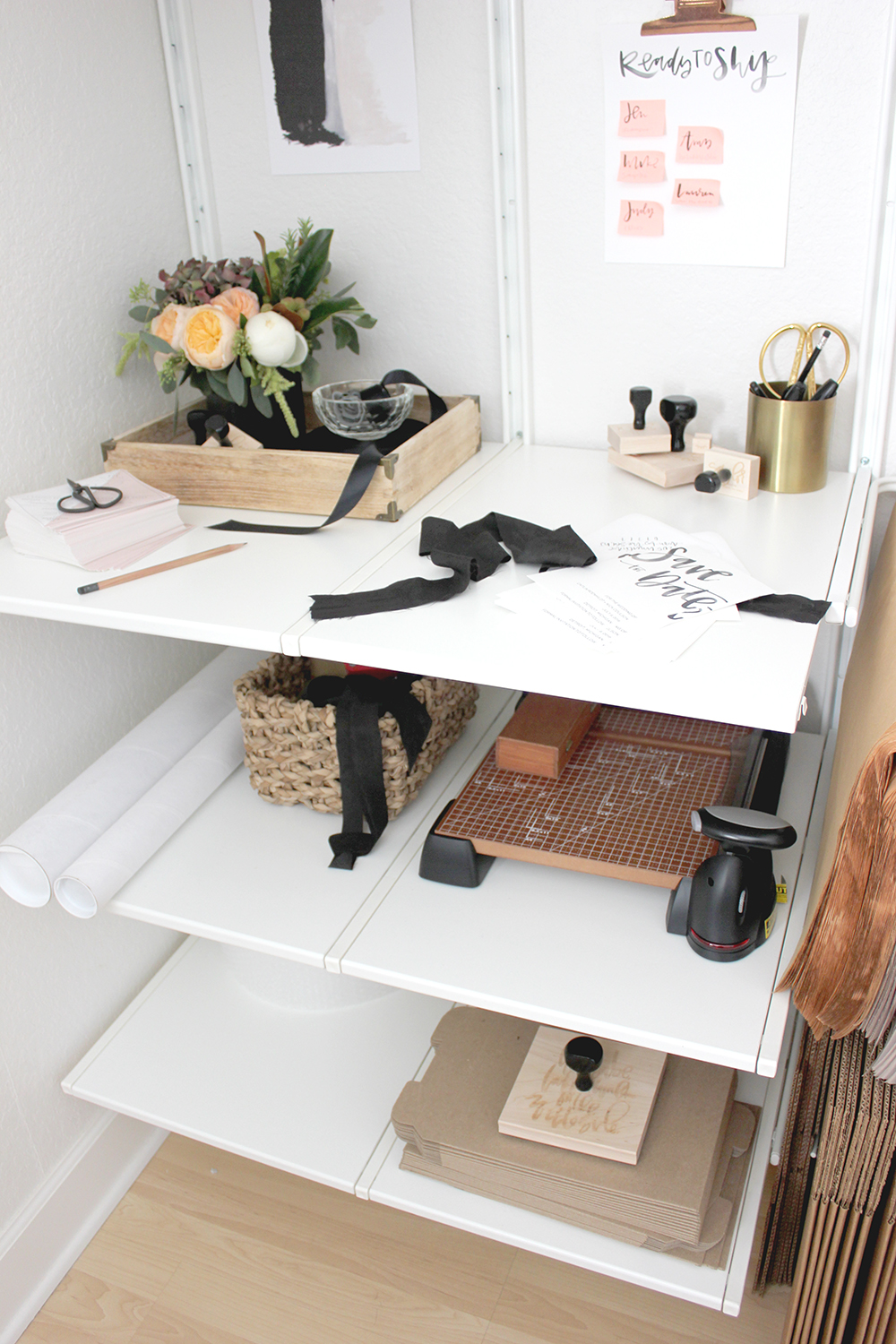 Extra closet before + after | A Fabulous Fete