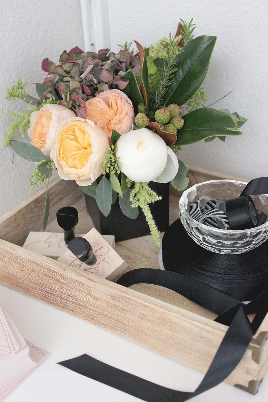 Desk organization with letter trays | A Fabulous Fete