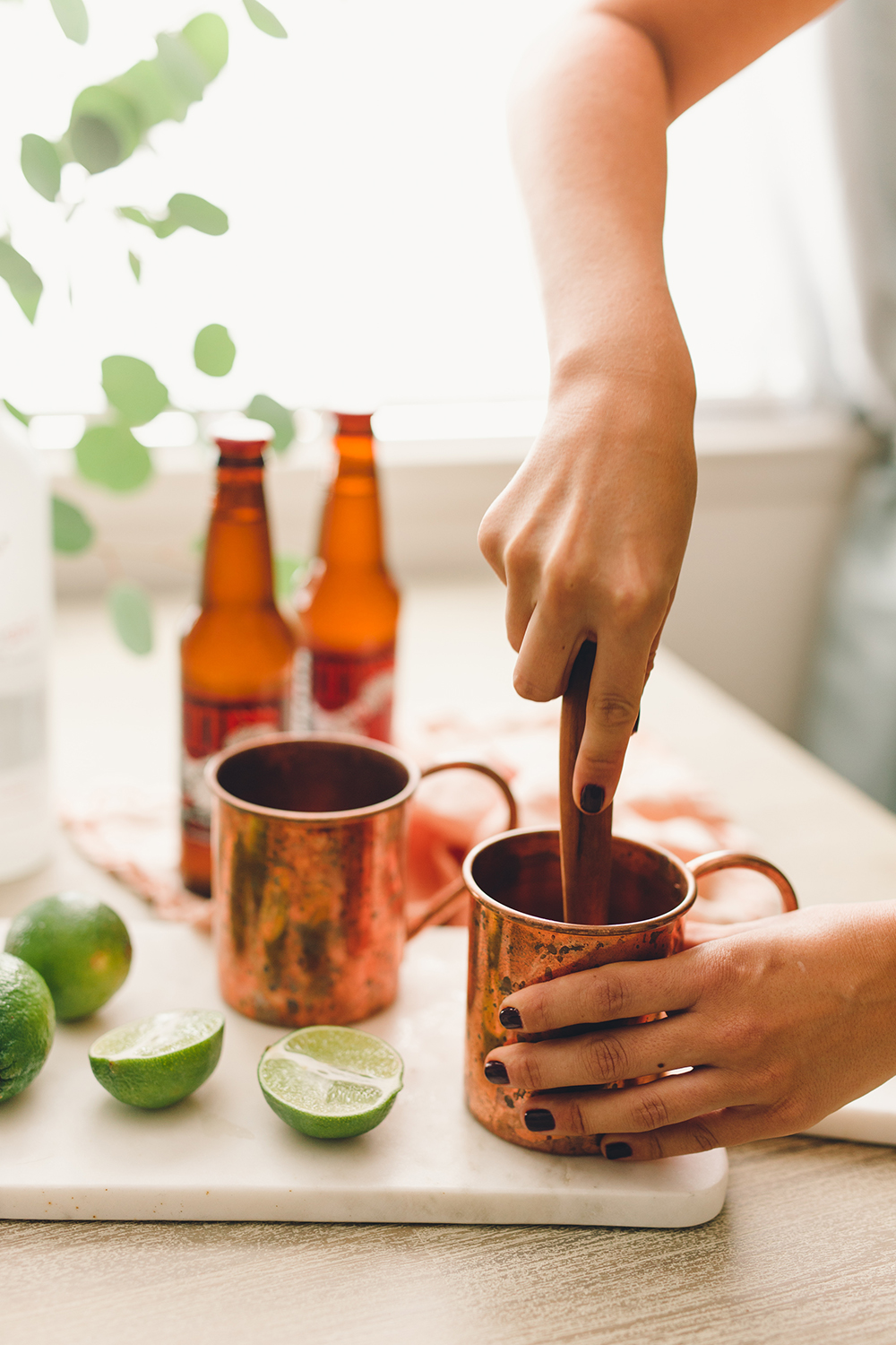 Add muddled fruit to your moscow mule | A Fabulous Fete