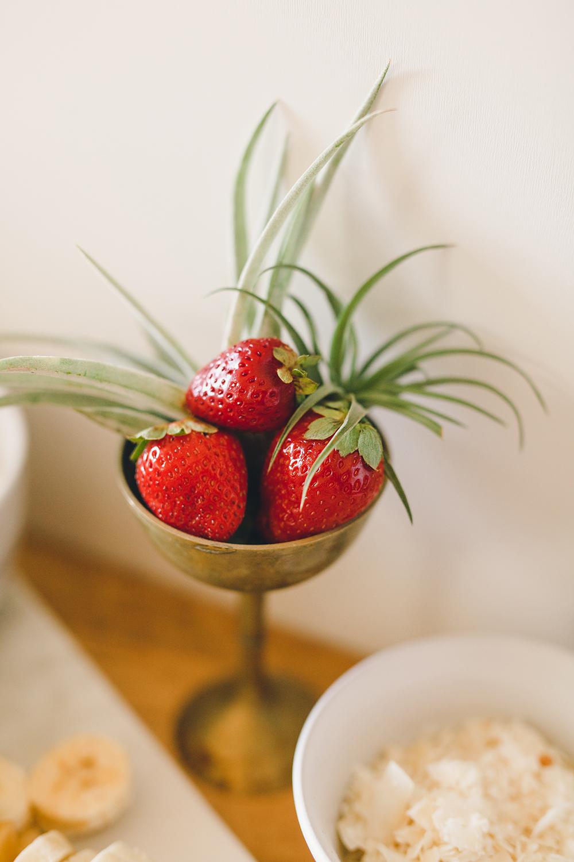 Strawberry decor for a brunch | A Fabulous Fete
