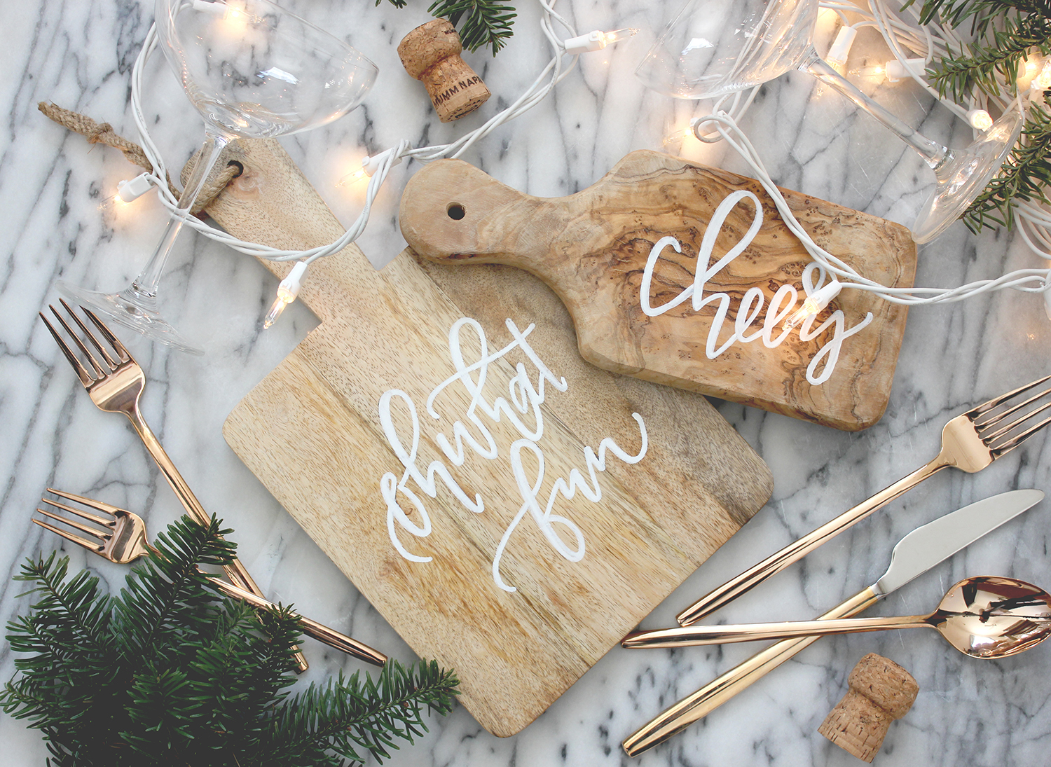 DIY cutting boards with printable to trace | A Fabulous Fete