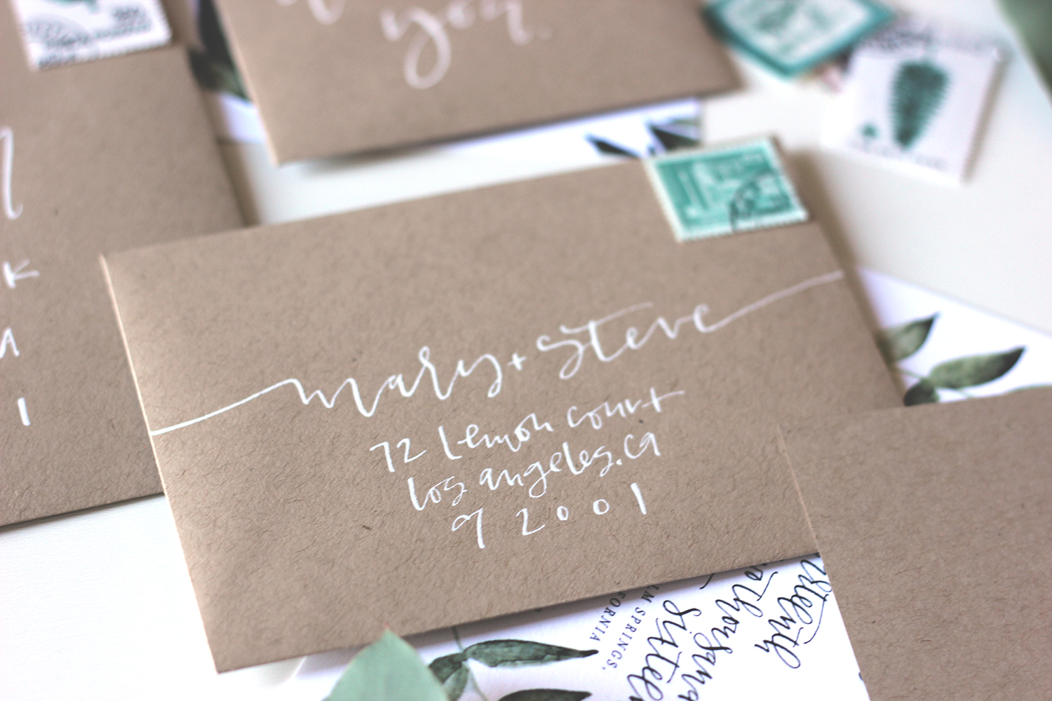 Calligraphy rsvp envelope addressing | A Fabulous Fete