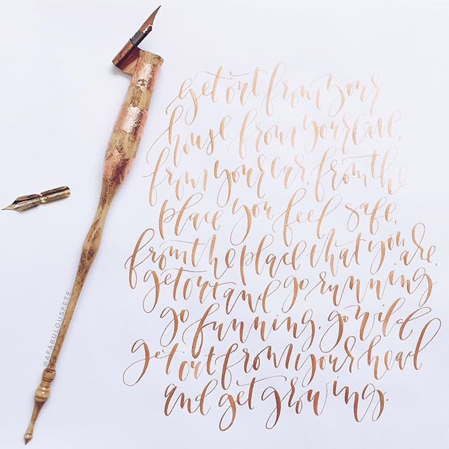 Custom holder and gold calligraphy | A Fabulous Fete