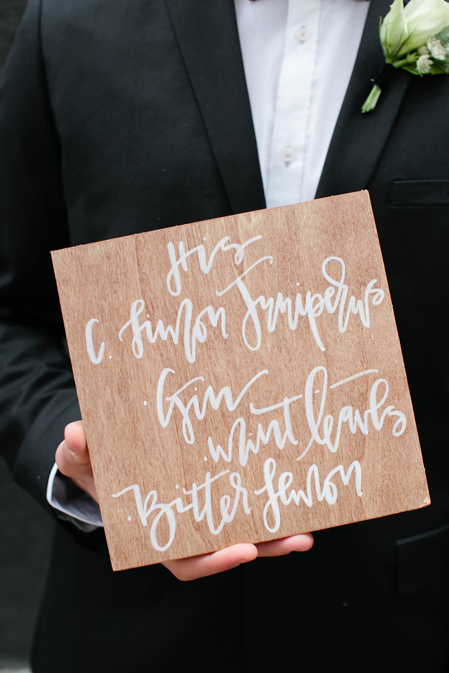 Wedding bar cocktail signs   A Fabulous Fete