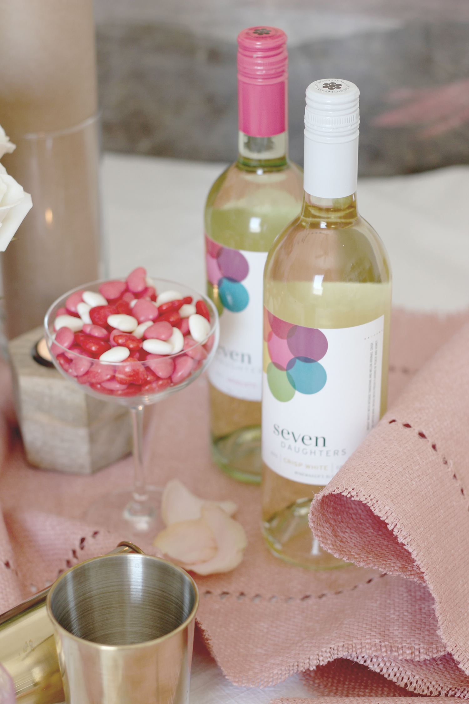 Wine and candy for your galentines and valentines | A Fabulous Fete