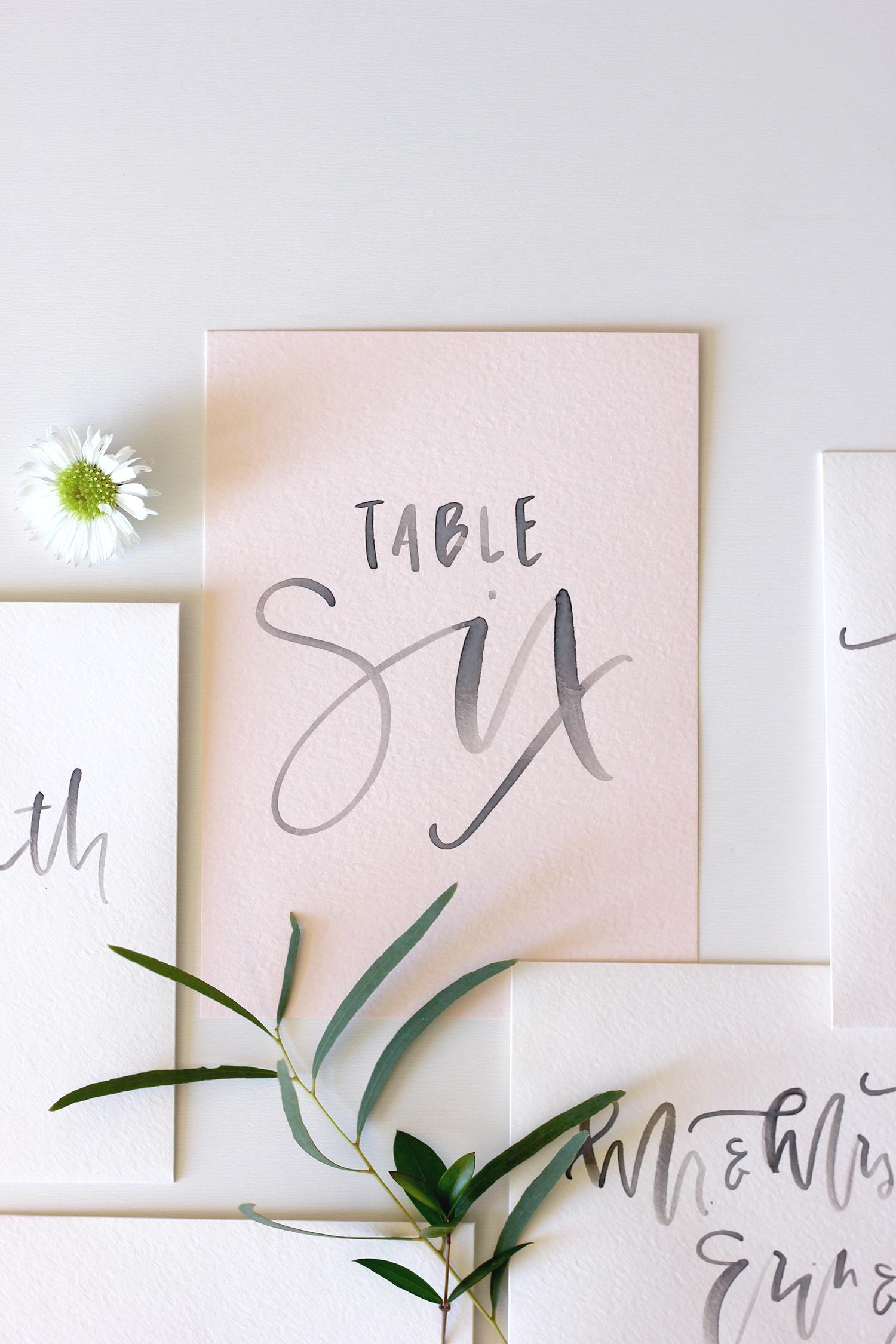Handwritting Table Settings | A Fabulous Fete