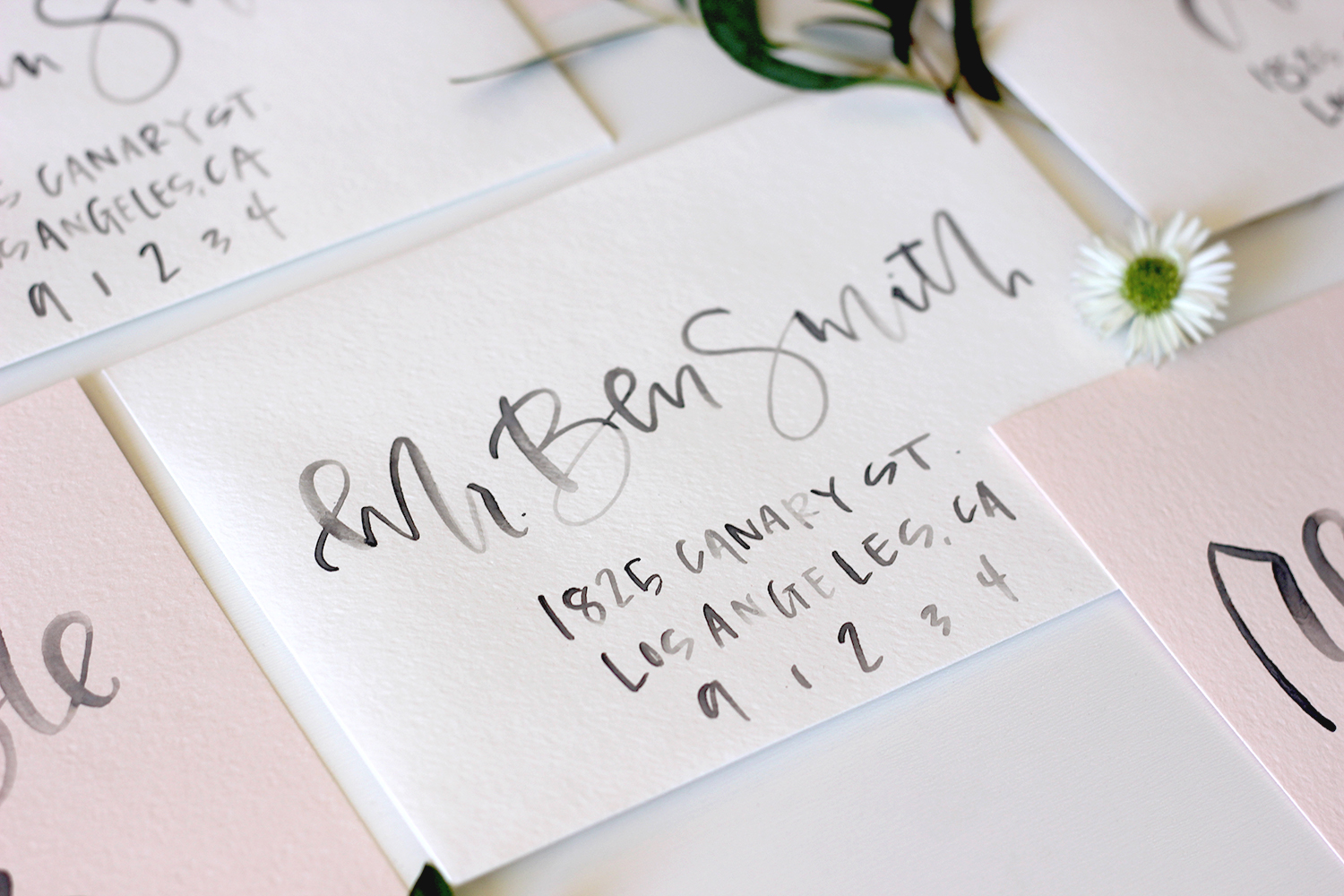 Watercolor Calligraphy Name Cards | A Fabulous Fete