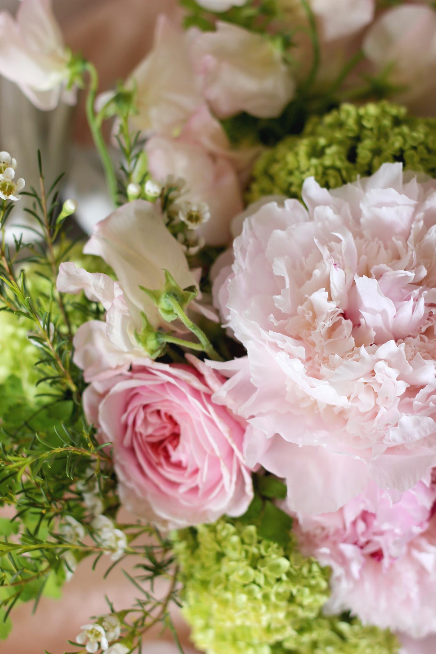 Blush and Green Floral Arrangement   A Fabulous Fete