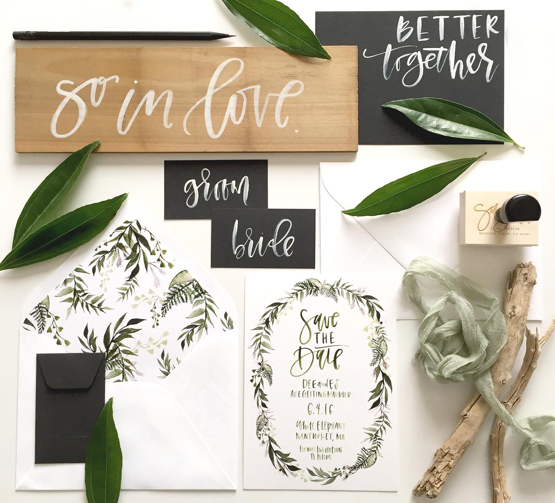 Botanical wreath suite | A Fabulous Fete