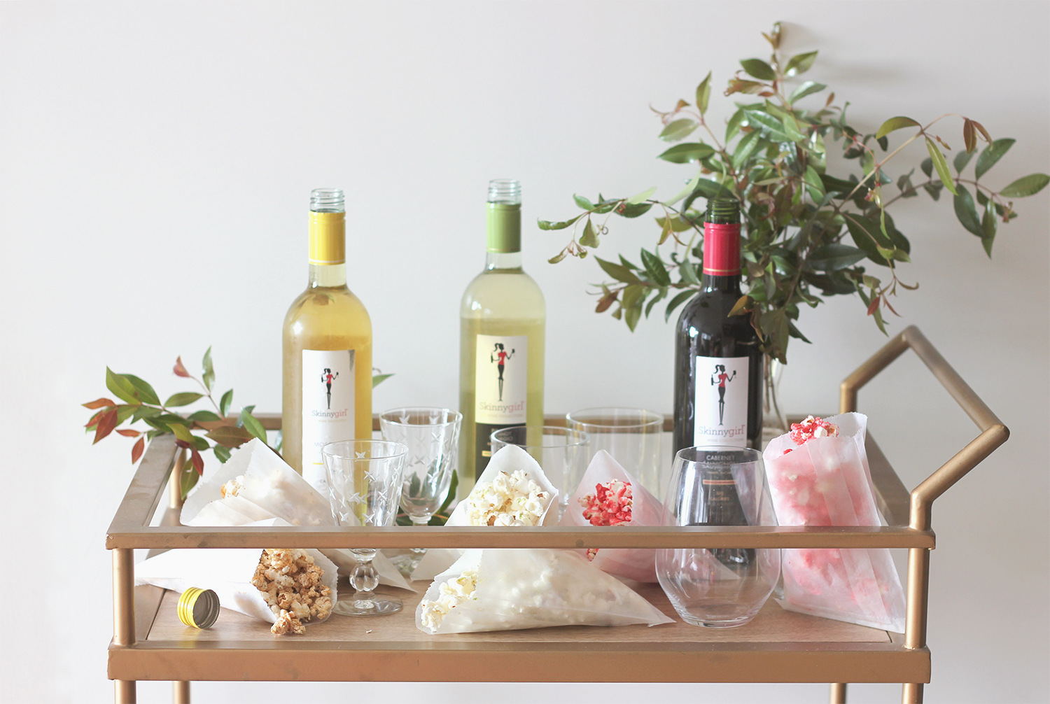 Try this popcorn and wine pairing for your next girls night in! | A Fabulous Fete