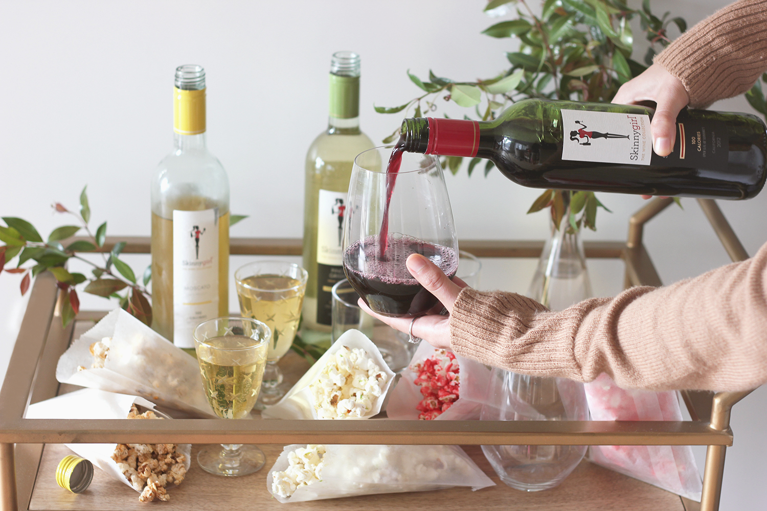 A fun date night idea, try these 3 popcorn recipes with your favorite wines | A Fabulous Fete