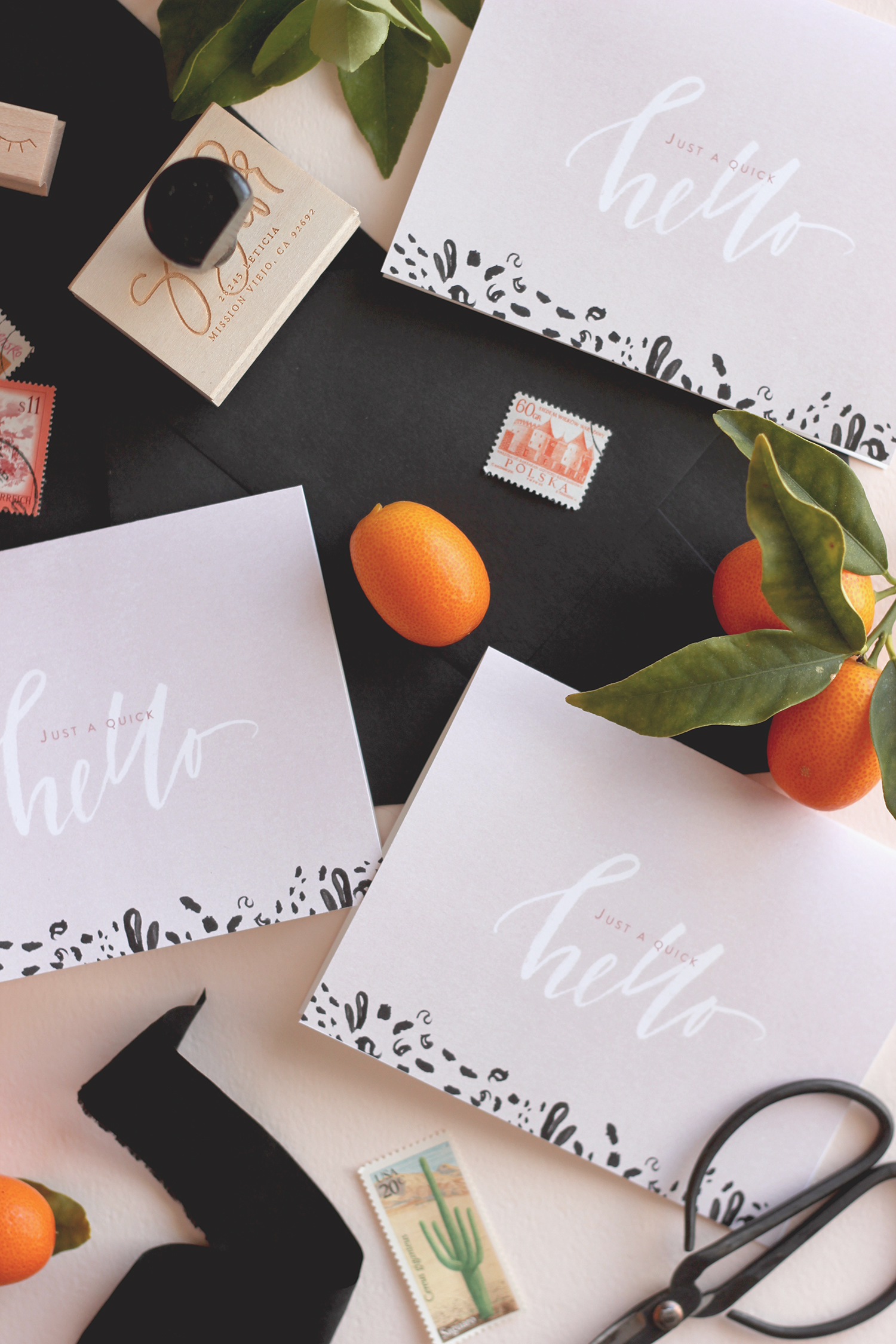 Free printable hello cards | A Fabulous Fete