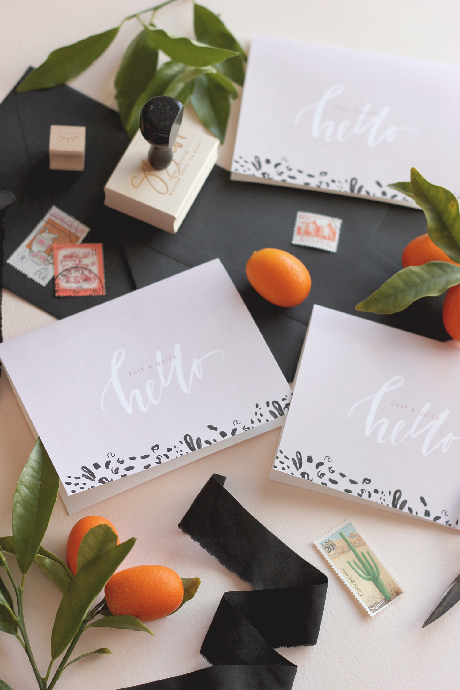 Free printable spring cards for a quick hello | A Fabulous Fete
