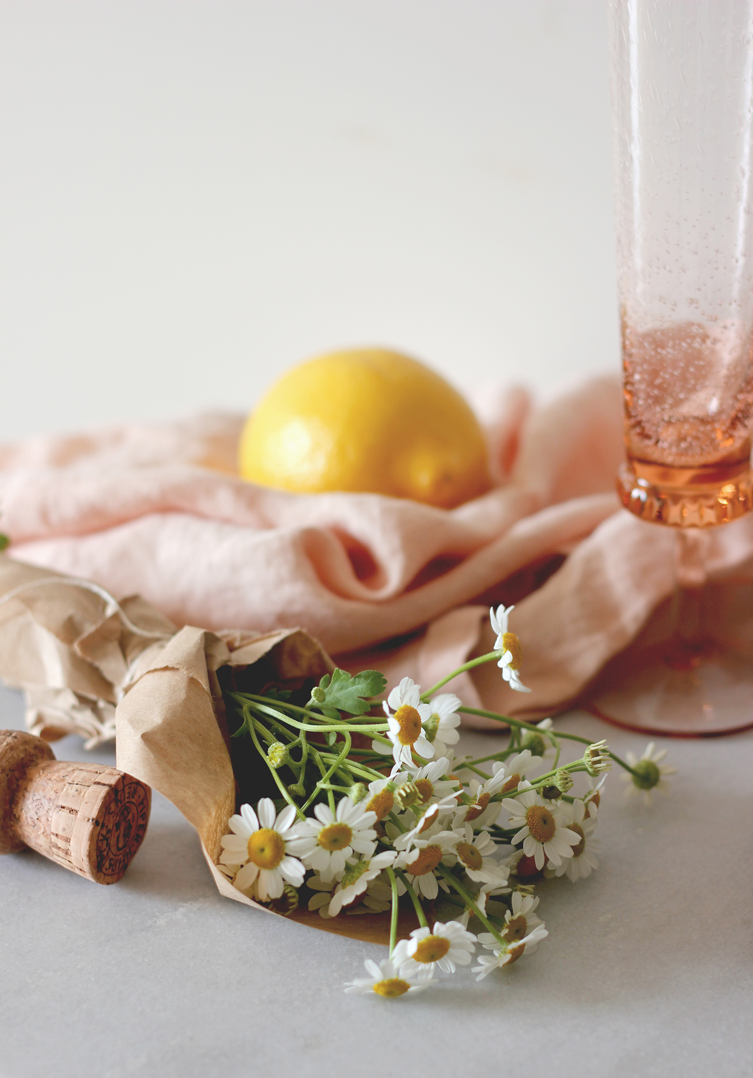 chamomile blooms for cocktail garnish | A Fabulous Fete