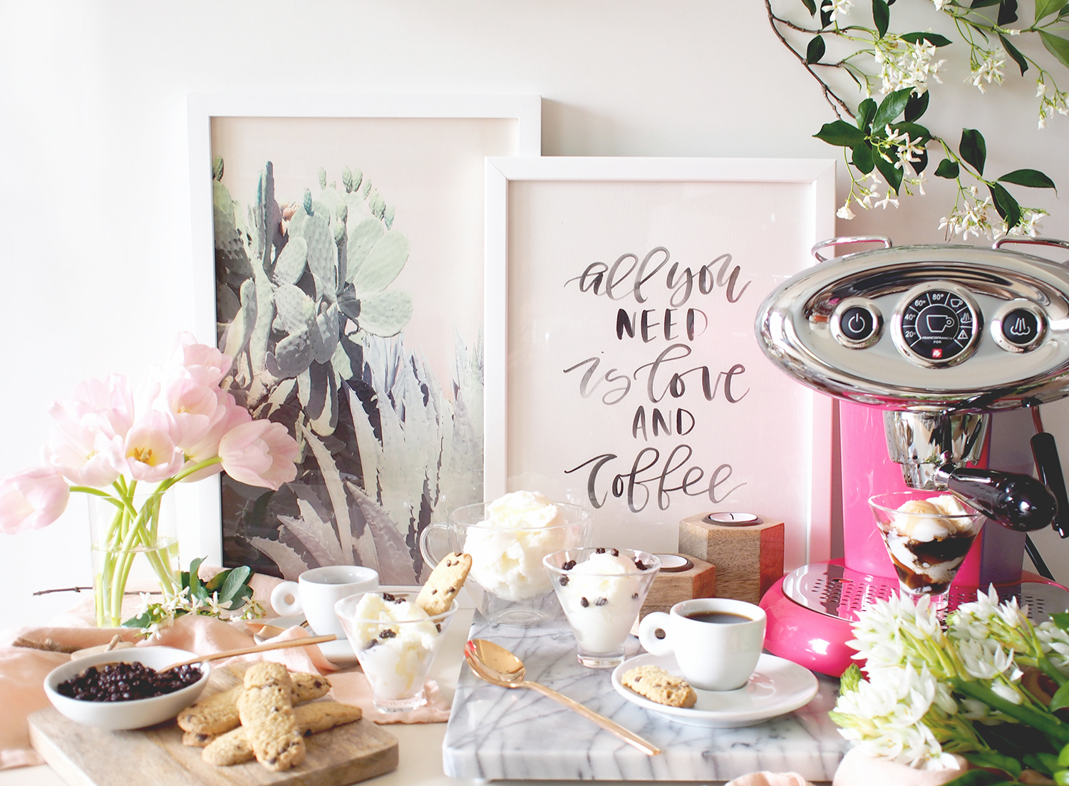 The easiest way to have a coffee bar at your next get together, a simple espresso machine! | A Fabulous Fete
