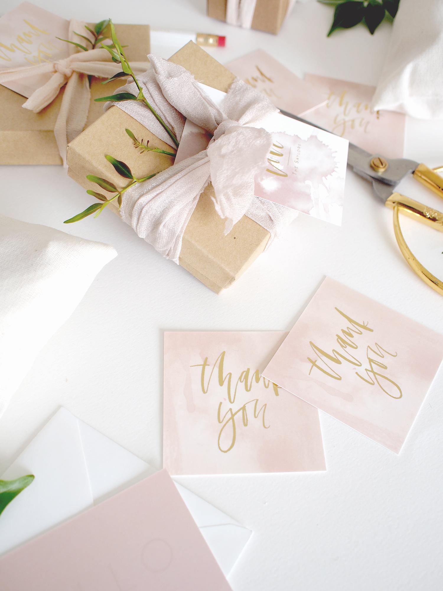 Gold foil thank you tags   A Fabulous Fete