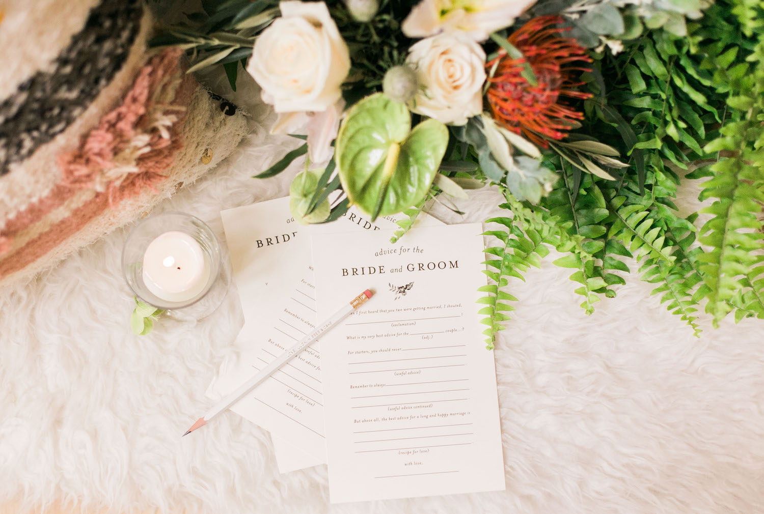 Advice cards for friends and family to fill out at your rehearsal dinner | A Fabulous Fete