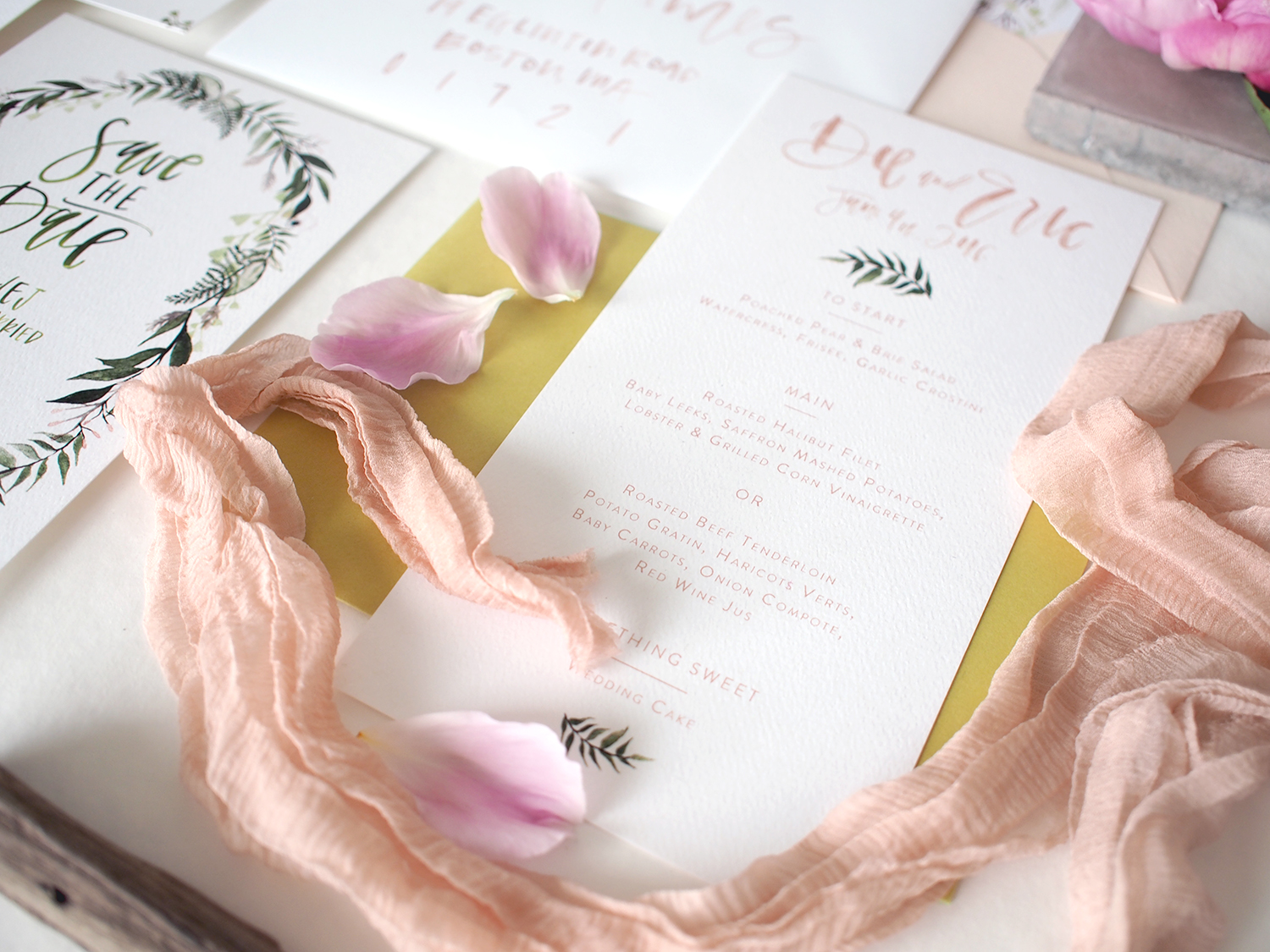 custom wedding invitation suite | a fabulous fete